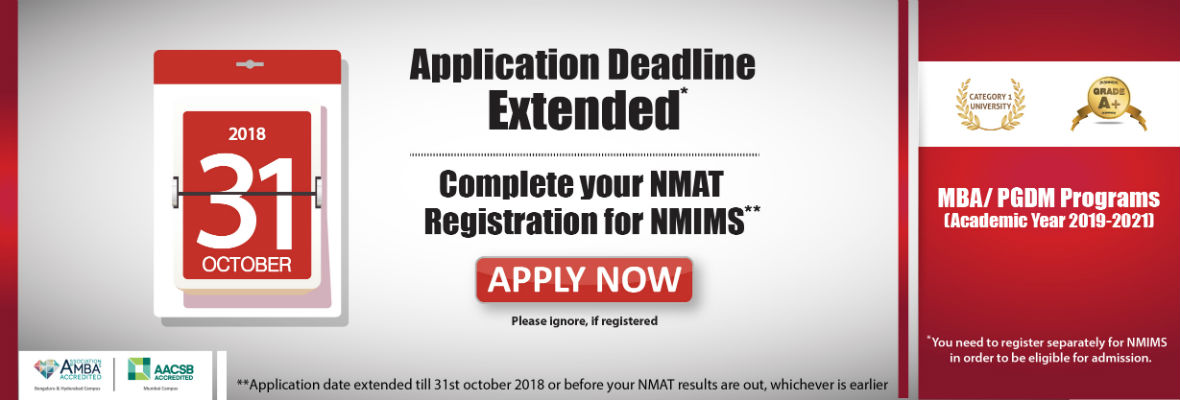 last date 31st october 2018 nmat by gmac